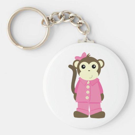 Monkey in Pajamas Keychain