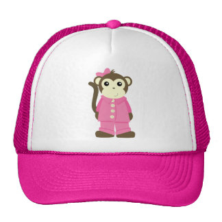 Monkey in Pajamas Mesh Hats