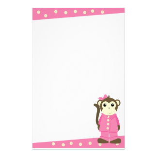 Monkey in Pajamas Stationery Design