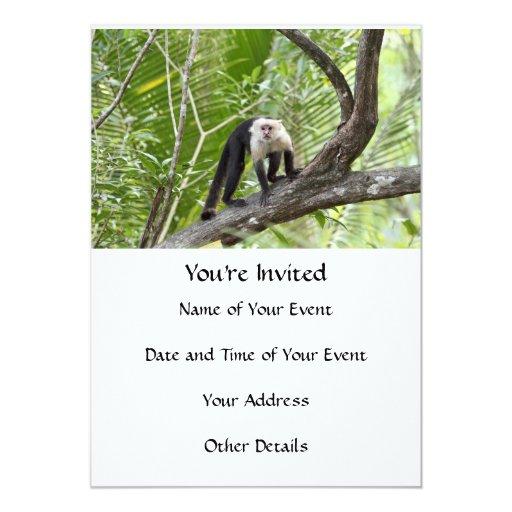 Monkey in the Jungle 5x7 Paper Invitation Card