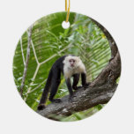 Monkey in the Jungle Double-Sided Ceramic Round Christmas Ornament
