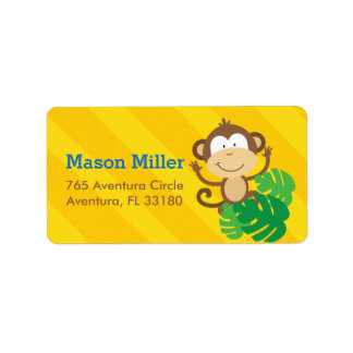 Monkey in the Jungle Personalized Address Labels