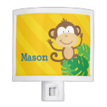 Monkey in the Jungle Personalized Night Light