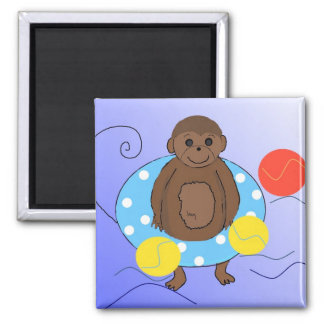 Monkey in the Pool Magnet