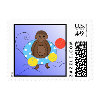 Monkey in the Pool Postage