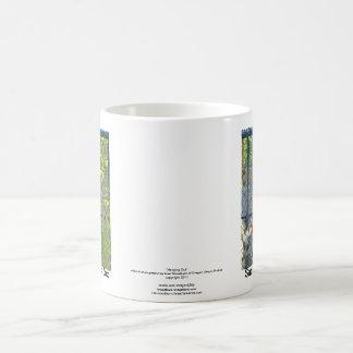Monkey in zoo habitat coffee mug