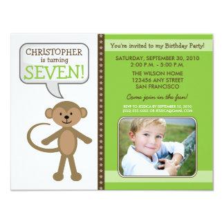Monkey-ing Around Birthday Party Invite (lime)
