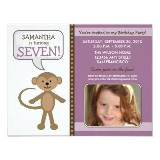 Monkey-ing Around Birthday Party Invite (purple)