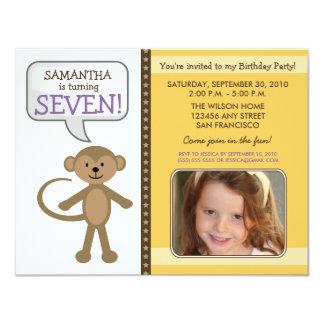 Monkey-ing Around Birthday Party Invite (yellow)