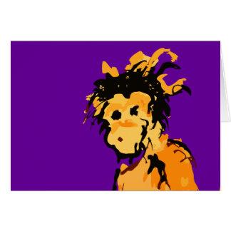 monkey ink card