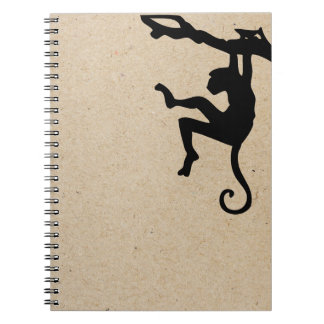 monkey ink stamped journal