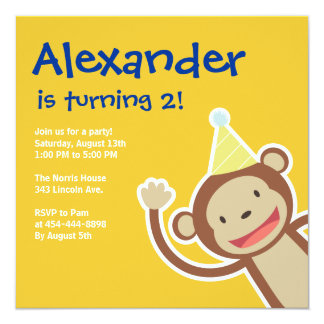Monkey Invitations