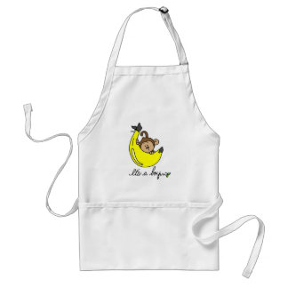 Monkey It's a Boy Tshirts and Gifts Adult Apron