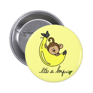 Monkey It's a Boy Tshirts and Gifts Pins