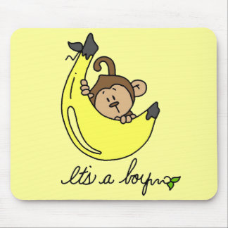 Monkey It's a Boy Tshirts and Gifts Mouse Pad