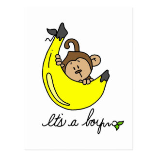 Monkey It's a Boy Tshirts and Gifts Postcard