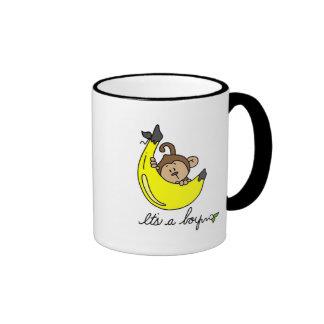 Monkey It's a Boy Tshirts and Gifts Ringer Mug