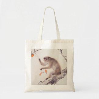 Monkey Japanese Painting Chinese Zodiac Tote Bag