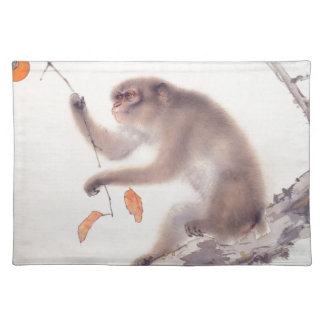 Monkey Japanese Painting Monkey Year Zodiac Place Cloth Placemat