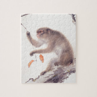 Monkey Japanese Painting - Year of the Monkey 2016 Jigsaw Puzzle
