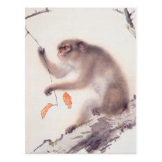 Monkey Japanese Painting Year Of The Monkey Postcard at Zazzle