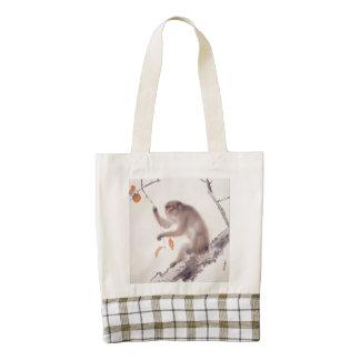 Monkey Japanese Painting - Year of the Monkey Zazzle HEART Tote Bag