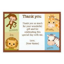 Monkey Jungle Baby Shower Thank You BOY MJS #150 Card