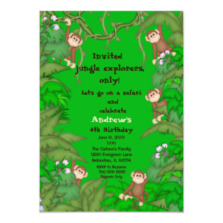 Monkey Jungle Birthday Invitation