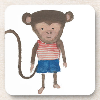 Monkey Jungle Friends Baby Animal Water Color Coaster