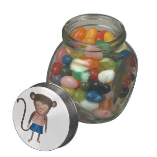 Monkey Jungle Friends Baby Animal Water Color Jelly Belly Candy Jars