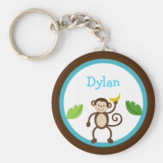 Monkey Jungle Kids Personalized Key Chain