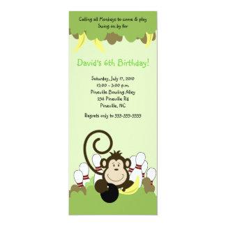 Monkey Jungle Safari Bowling Party 4x9 Card