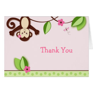 Monkey Jungle Thank You Note Cards