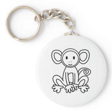 jasmineflynn Monkey Keychain