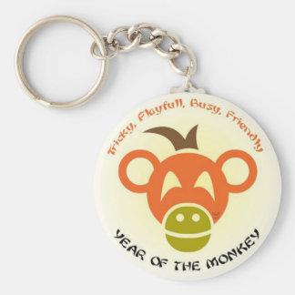 Monkey Keys Basic Round Button Keychain
