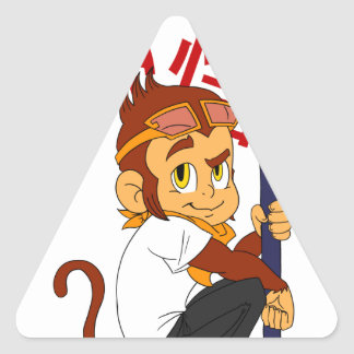 Monkey King Triangle Sticker