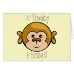 monkey la cara, nuestro mono del lil que la fiesta felicitación