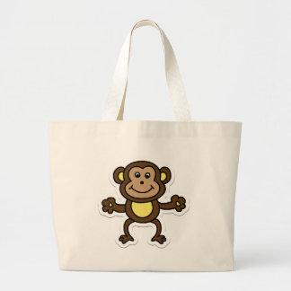 monkey large tote bag