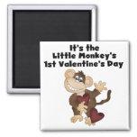 Monkey las 1ras camisetas del día de San Valentín Imán Para Frigorifico