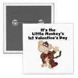 Monkey las 1ras camisetas del día de San Valentín Pins