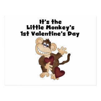 Monkey las 1ras camisetas del día de San Valentín Postales