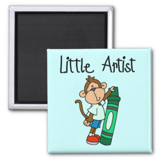 Monkey Little Artist Tshirts and Gifts Magnet