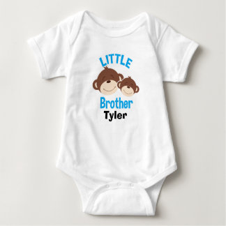 Monkey Little Brother Sibling Shirt - Add a name