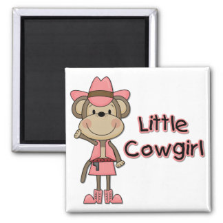 Monkey Little Cowgirl Tshirts and Gifts Magnet