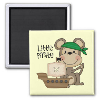Monkey Little Pirate Tshirts and Gifts 2 Inch Square Magnet