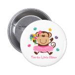 Monkey Little Sister 2 Inch Round Button
