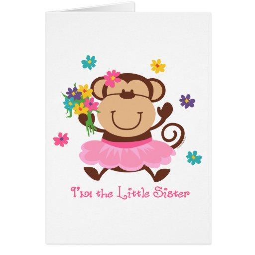 Monkey Little Sister Card