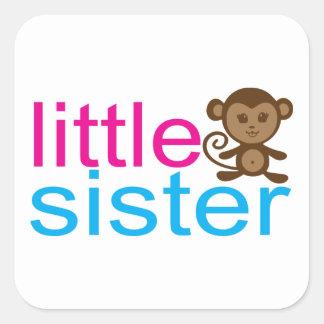 Monkey Little Sister Square Sticker