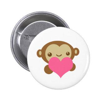 Monkey Love 2 Inch Round Button