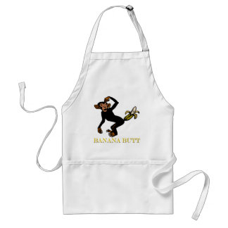 Monkey Love Fling Poo Funny Apron